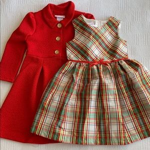 Bonnie Jean little girl dress and coat size 5